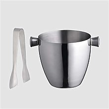 WZHZJ New Stainless Steel Thickened Ice Bucket