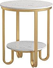 WZHZJ Nordic Iron Art Marble Side Table Light