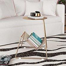 WZHZJ Sofa Side Table Metal Small Coffee Table