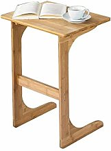WZHZJ Solid Wood Tea Table Sofa Side Table Nordic