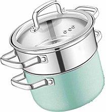 WZHZJ Stainless Steel Mini Steamer Soup Pot,