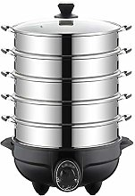 WZHZJ Stainless Steel Slow Cooker Food Steamer Pot