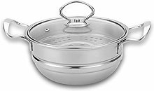 WZHZJ Stainless Steel Steamer, Thick Soup Pot,