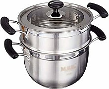 WZHZJ Stainless Steel Steamers,2 Tier Stainless
