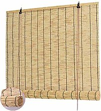 WZRIOP Bamboo Roller Blind Roman Blind,Home Retro