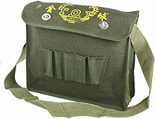 X-DREE Multi Compartments Army Green Canvas