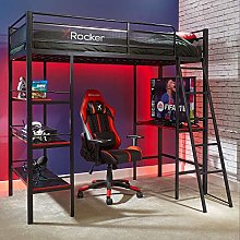 X Rocker Fortress High Sleeper Gaming Bunk Bed