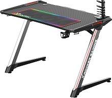 X Rocker Lynx Full Colour LED Gaming Desk - Black