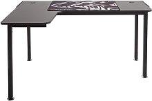 X Rocker Panther Left Corner Gaming Desk - Black