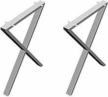 X-Shaped Niture Legs Metal Desk Legs Stainless