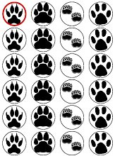 "X24 1.5"" Animal Footprints Cup Cake Toppers"