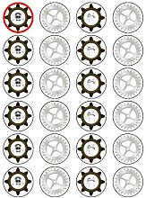 X24 1.5 Inch Vintage Steampunk Gears Cup Cake