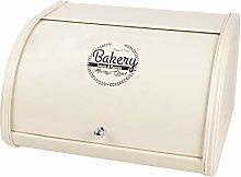 X458 Cream Metal Bread Box/Bin/kitchen Storage