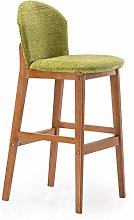 XAGB Bar Stool, Solid Wood With Backrest, High