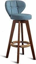 XAGB Footrest With Backrest Swivel Seat Blue Linen