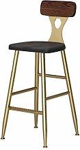 XAGB Home Bar Furniture Barstool Golden Steel