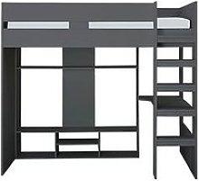 Xander High Sleeper Gaming Bed - Dark Grey