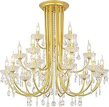 XAWV Crystal Chandelier Light,9-head Ceiling Light