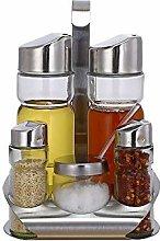 XBERSTAR Glass Bottle Seasoning Jar Set,Spice