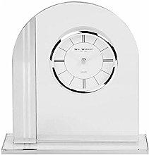 Xbite Ltd - Arched Glass Mantel Clock Chrome Bezel