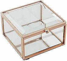 Xbite Ltd - HESTIA? Glass Rose Gold Jewellery Box
