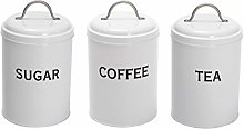 Xbopetda 3 Piece Kitchen Canister Set with lid -