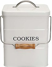 Xbopetda Biscuit Tin Biscottiera Cookie Jar,