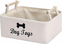 Xbopetda Canvas Dog Toy Basket Dog Treat and pet