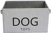Xbopetda Canvas Dog Toy Basket - Pet Toy and