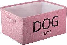 Xbopetda Canvas Dog Toy Basket, Storage Basket Bin