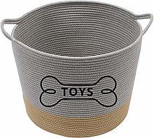 Xbopetda Cotton Rope Dog Toy Basket Dog Toy