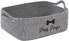 Xbopetda Cotton Rope Storage Basket Bin Dog Toy