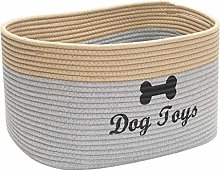 Xbopetda Dog Storage Basket Cotton Rope Basket Dog