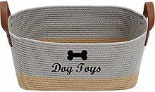 Xbopetda Dog Storage Basket Cotton Rope Storage