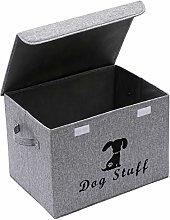 Xbopetda Dog Toy Basket, Linen Storage Basket Bin