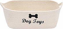 Xbopetda Dog Toy Basket Pet Storage Basket Cotton