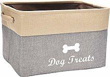 Xbopetda Dog Toy Storage Basket, Linen Storage