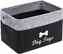 Xbopetda Fiber Felt Dog Storage Basket, Pet Toy