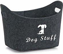 Xbopetda fiber Soft felt Dog Storage Basket Bin