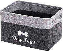 Xbopetda Fiber Soft Felt Dog Storage Basket, Pet
