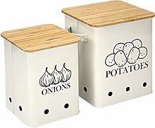 Xbopetda Kitchen Storage Canister Set of 2, Potato