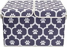 Xbopetda Linen Fabric Storage Basket, Printing
