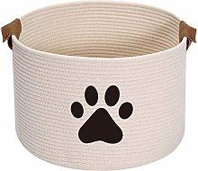 Xbopetda Round Cotton Rope Basket Pets Toy Storage