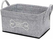 Xbopetda Soft Felt Storage Bin Dog Toy Storage Bin