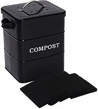 Xbopetda Stainless Steel Compost Bin for Kitchen