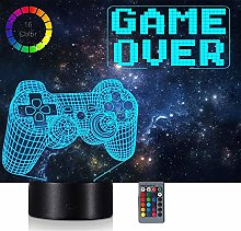 Xbox Gamer Games Logo 3D Acrylic Led 16 Colour