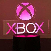 Xbox Gamer Games Logo 3D Acrylic Led 7 Colour