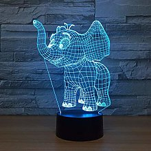 XBR Led Night Light,Cut Elephant Animal 3D Night