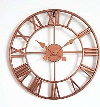 XBSXP Open Face Clock Round Iron - Black Gold