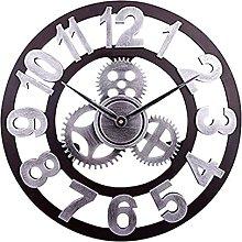 XBSXP Open Face Clock Round Iron - Black Superfine